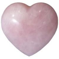 Coeur en quartz rose