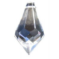 Goutte 20 mm a facettes en cristal