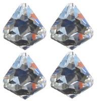Diamants 40 mm a facettes en cristal, set de 4 cristaux
