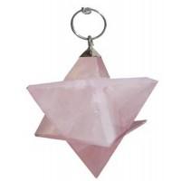 Pendule Merkaba Pierre quartz rose