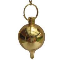 Pendule boule dorée