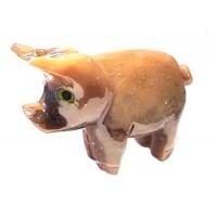 Cochon en pierre stéatite