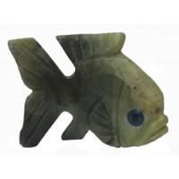 Poisson statuette de collection en pierre