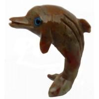 Dauphin figurine en pierre