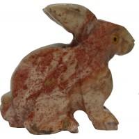 Lapin figurine en pierre