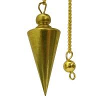 Pendule cone métal doré