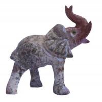 Éléphant Décoration Feng Shui en pierre stéatite