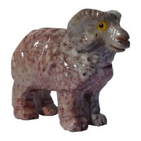 Mouton animal de la ferme en pierre