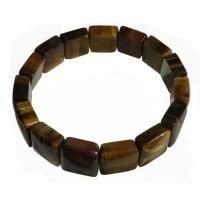Bracelet élastique Oeil de Tigre, pierres plates