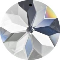 Rosace 45 mm en cristal a facettes, set de 4 cristaux