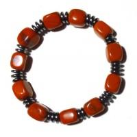 Bracelet jaspe rouge hématite