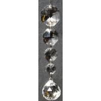 Pendentif Octogones et boule cristal à facettes