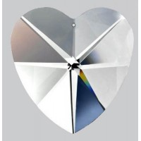 Coeur 40 mm a facettes en cristal