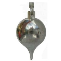 Pendule boule chromée