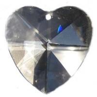 Coeurs 40 mm cristal a facettes, set de 4 cristaux