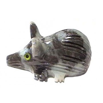 Rat figurine en pierre