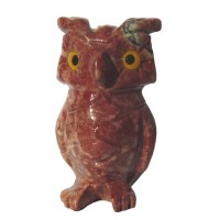 Hibou animal sauvage en pierre