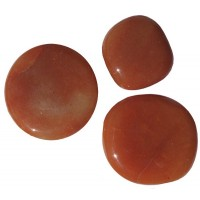 Aventurine orange Pierre plate