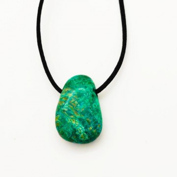 Pendentif goutte chrysocolle